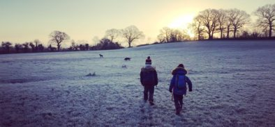 frosty morning walk