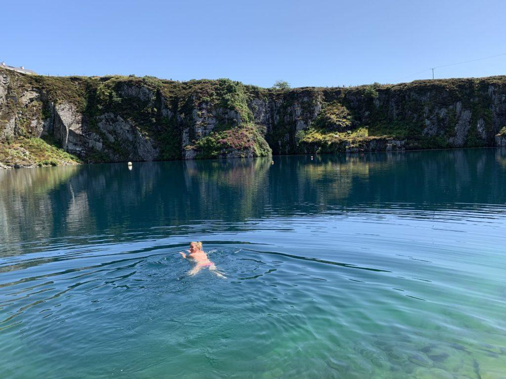 swimming in Snowdonia
