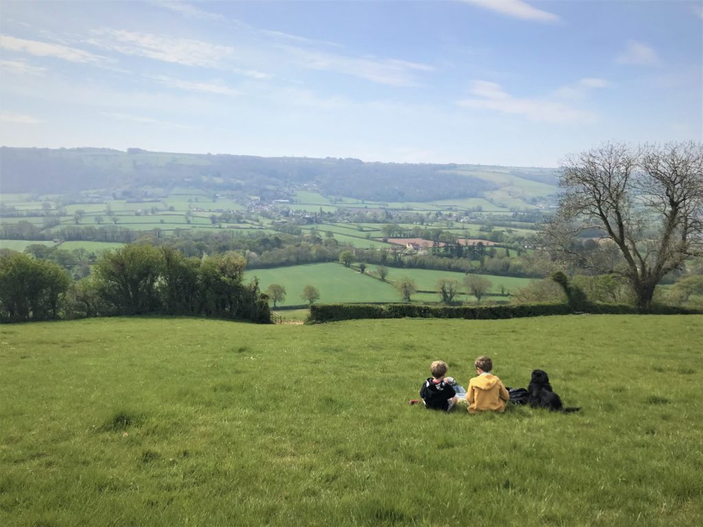 views over the chew valley, somerset
