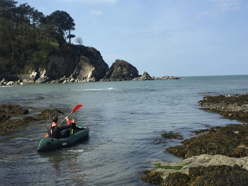 canoeing from Lee Bay