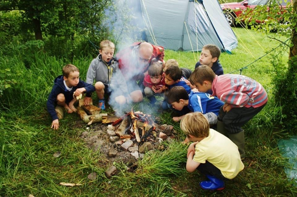 fire lighting with kids