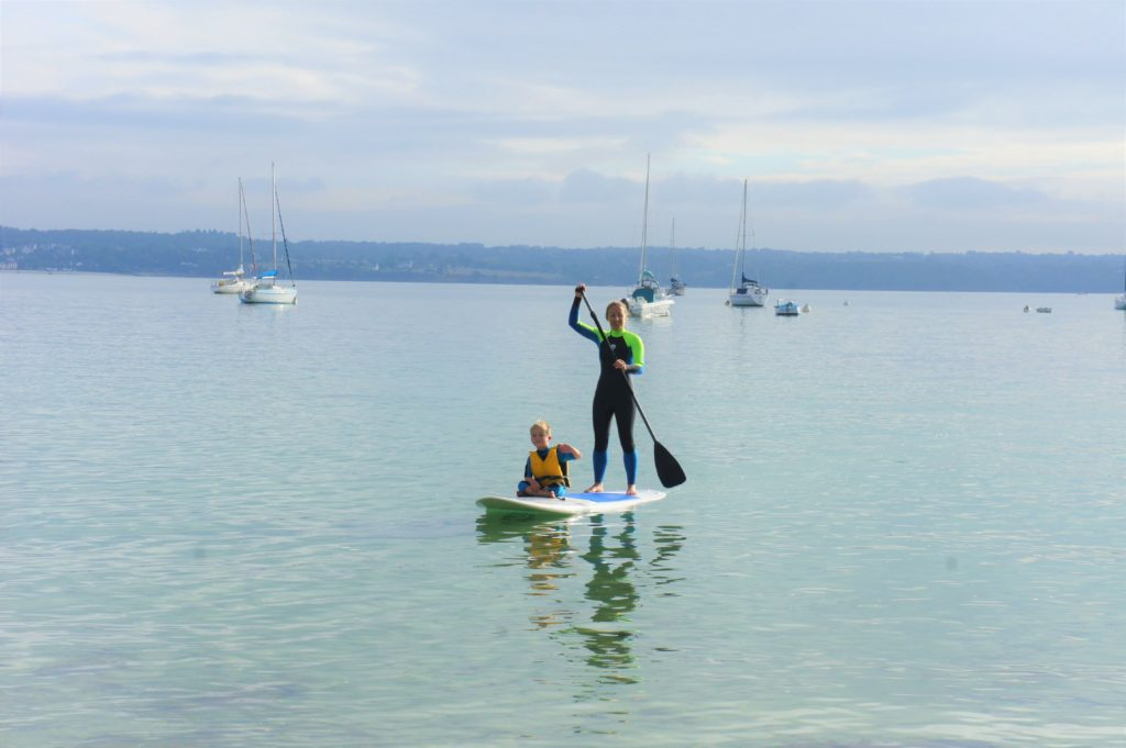 paddleboarding at dale beach