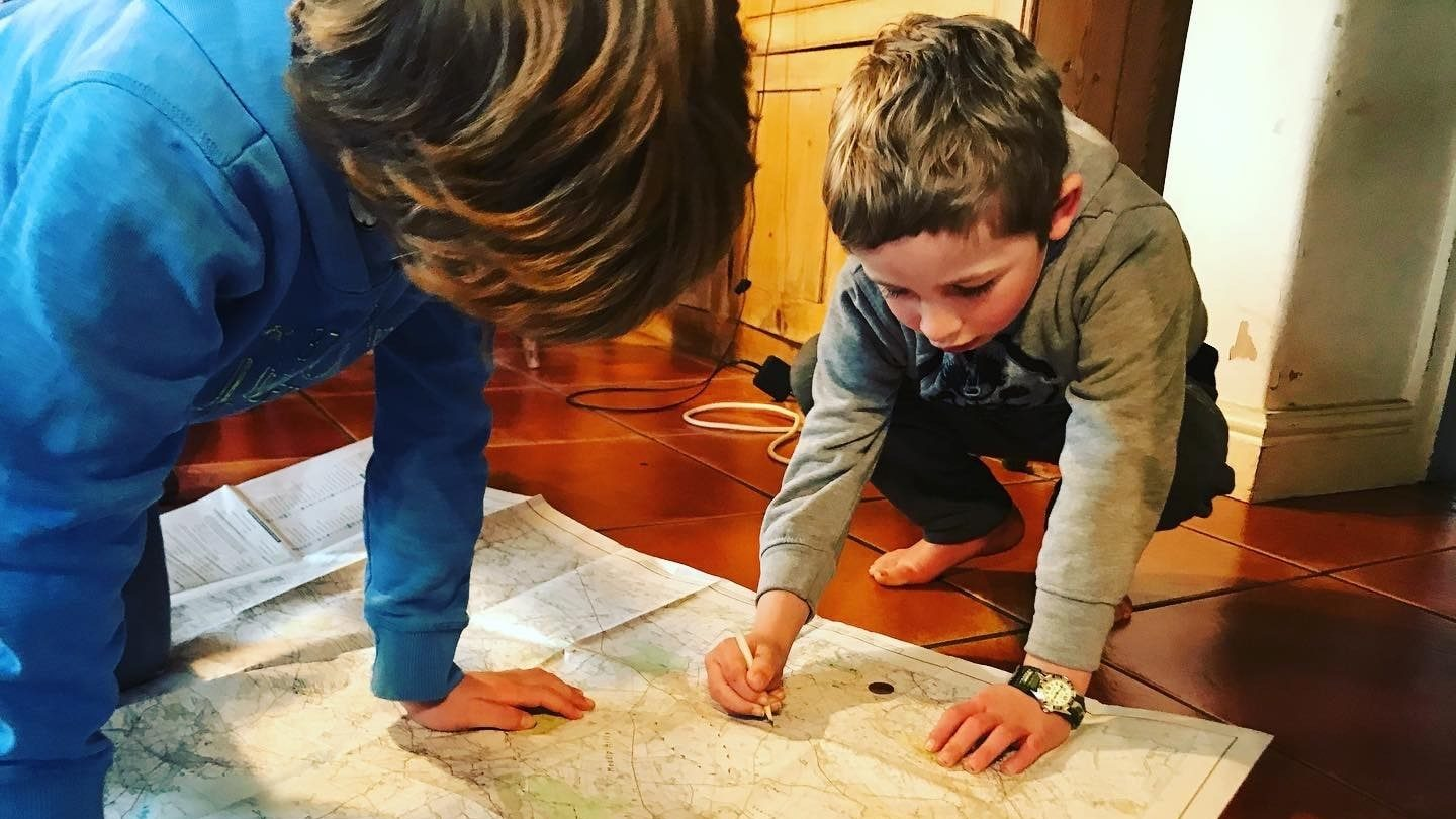 map reading with kids
